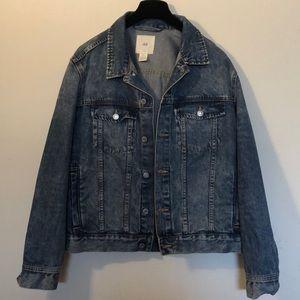 Dark blue oversized denim jacket